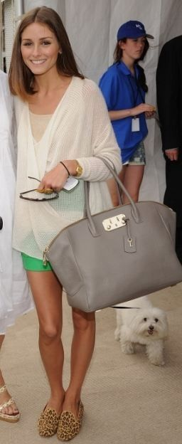 Put a nude shell beneath a cream sheer top for a simple-chic look like this one worn by Olivia Palermo.
