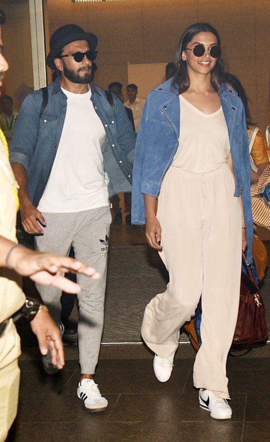 Deepika Padukone And Ranveer Singh Return From Their Vacation See Pics Deepika Padukone Style Deepika Padukone Casual Outfits