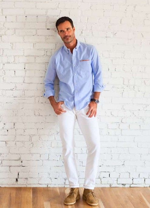 What Color Shirt To Wear With White Pants | Gpant