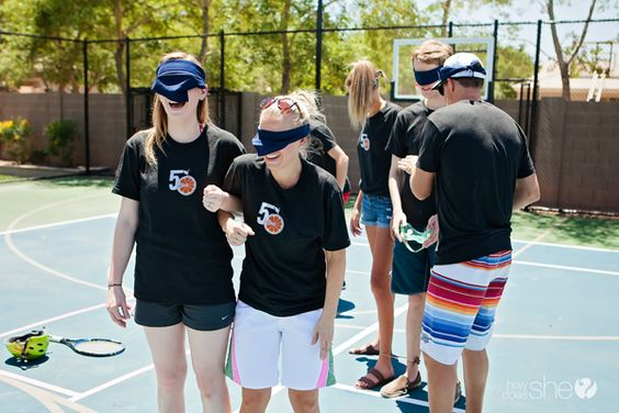 blindfolded obstacle course instructions