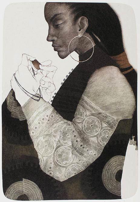 Marina Richterova(Russian, b.1962)-     Creol   'japanese cycle'   2007.     Print - lithography