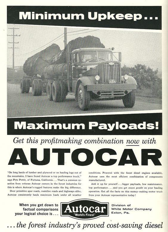 Autocar Trucks Vintage Trucks Old Trucks Big Trucks