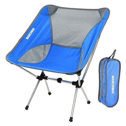 Travel Lightweight Backpacking MARCHWAY Ultralight Folding Camping Chair Beach Hiking Portable Compact for Outdoor Camp Festival Picnic