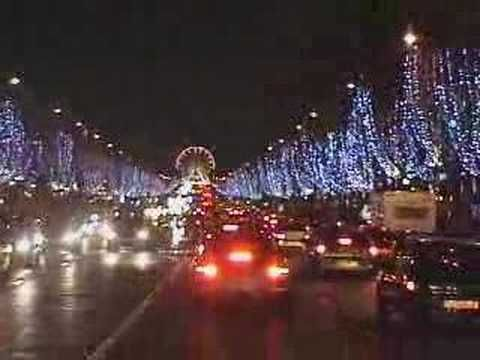 Some video of the christmas illuminations in paris