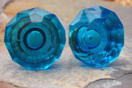 Blue Crystalline Knob