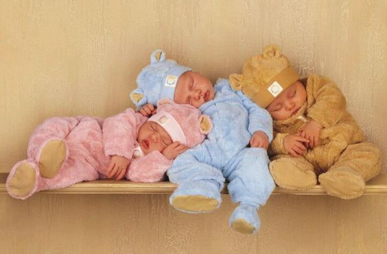 Babys auf Regal