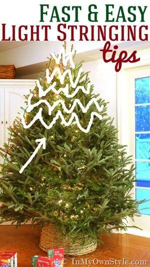 My Style: Christmas Tree Lighting Tips Christmas trees, String lights and Taps