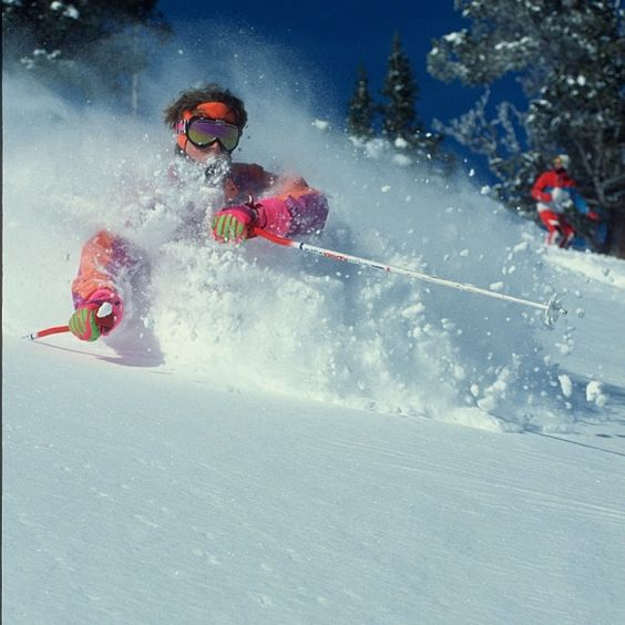 The 80s ski gear sure has improved. Our epic powder has stayed the same. #epic #powder #faceshot #throwback #snowbird