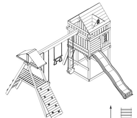 10 DIY Wooden Swing Set Plans: Free Swing Set Plan from Swing N Slide