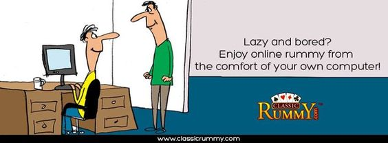 Lazy and bored? #Enjoy #online #rummy from the comfort of your own computer!  https://www.classicrummy.com/?link_name=CR-12