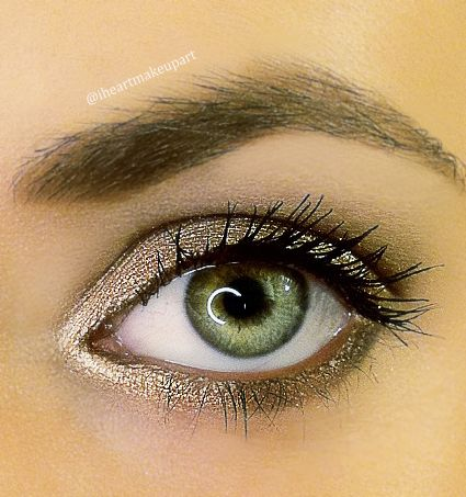 Simple pretty bronze look using Urban Decay's Naked 2 Palette STEPS: sweep Foxy under brow bone and all over your upper lid, apply Bootycall on the inner corner, sweep Suspect on the upper lid and then Pistol over that and also on the inner lower lash line as well, use Snakebite on the crease (blend) & also on the outer lower lash line, apply mascara and done!