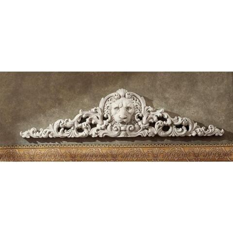 Remoulage Lion Sculptural Wall Pediment Wall Sculpture Art