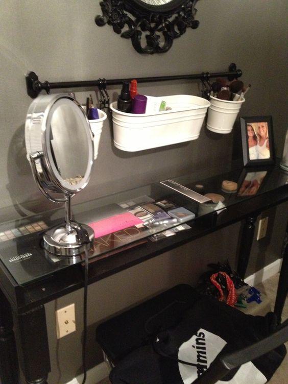 Maddie S Ikea Hack Makeup Table Love It Pinterest
