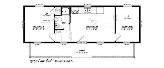 16x40 cabin floor plans 16 39 x40 39 cabin floor plans for 16x40 house plans