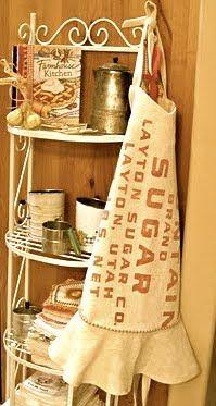 Vintage sugar and flour sack aprons