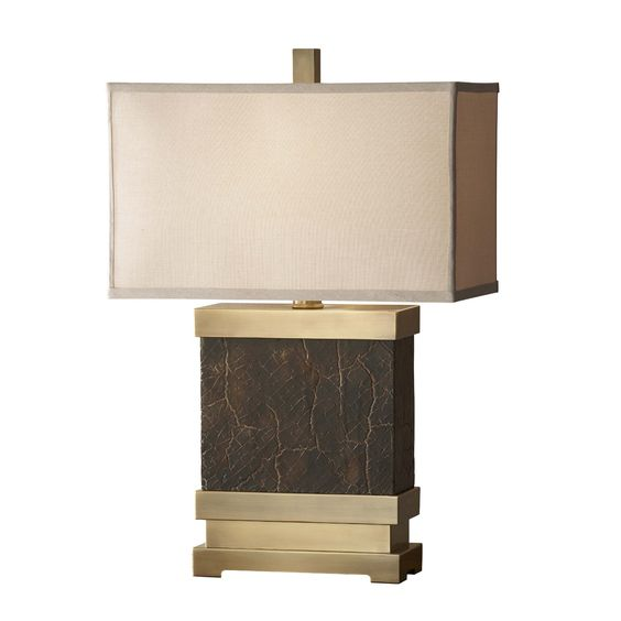 Murray Feiss 9969DCB/SB Dalton Table Lamp, Dark Coffee Bronze - Lighting Universe