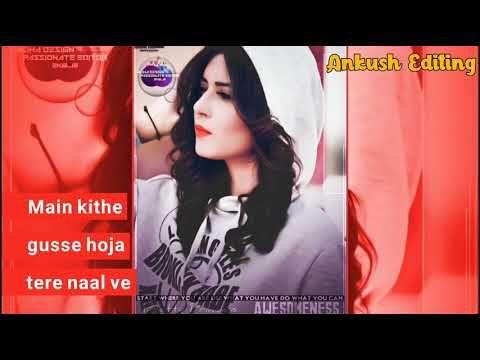 Sohnea Punjabi Female Whatsapp Status Oh Meri Jaan Na Ho Pareshan Youtube With Images Song Status New Whatsapp Video Download Status