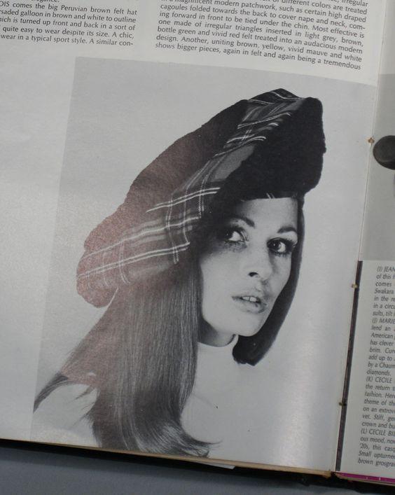 Vintage 1960s Hat Lilly Dache Brown Tweed Banded Beret Sz 21.5 Shop for #vintagefashions at RubyLane.com
