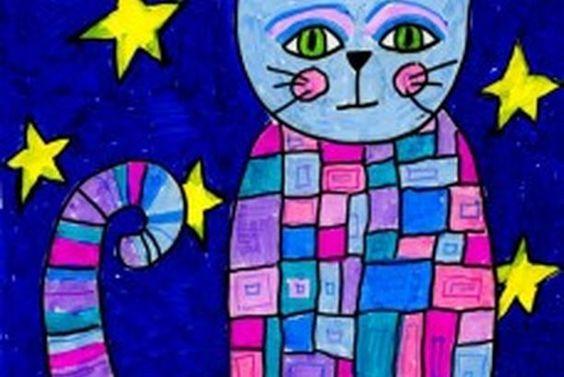 Patterned Marker Cat