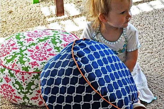Sew your own DIY floor cushions with this sewing pattern and tutorial from Living With Punks.