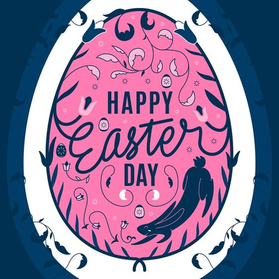 Download Happy Easter Day In Flat Design For Free In 2020 Happy Easter Day Vector Free Happy