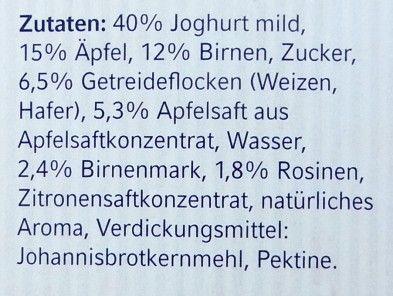 Zutaten, Mövenpick Birchermüesli nach Schweizer Originalrezept