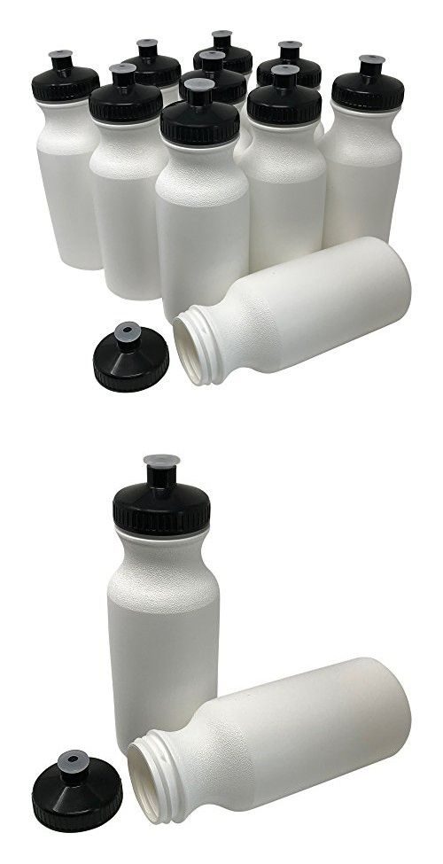 BPA Free HDPE Plastic 20 Oz Sports And Fitness Squeeze Water Bottles 10 Pack