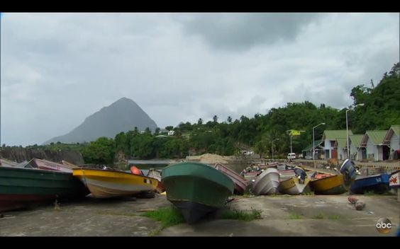 Fishing boats in Dennery, Saint Lucia