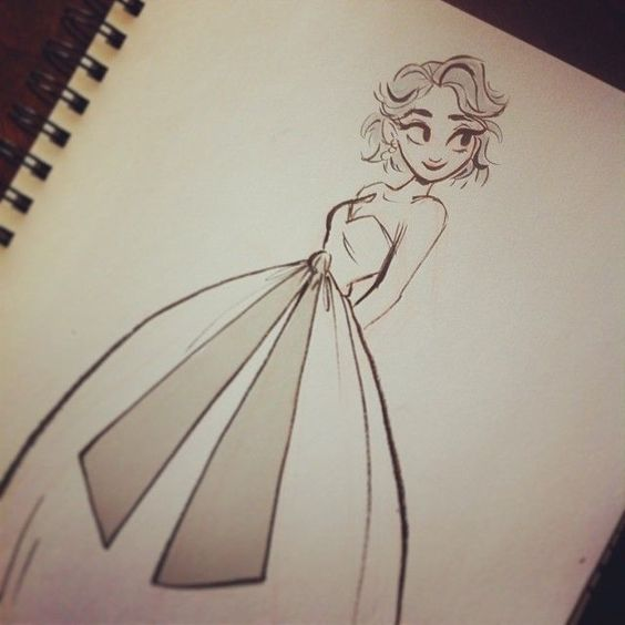 cute girl drawing art pinterest elsa drawings