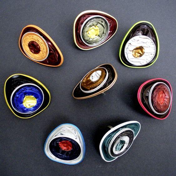 DIY Anillos de cápsulas nespresso