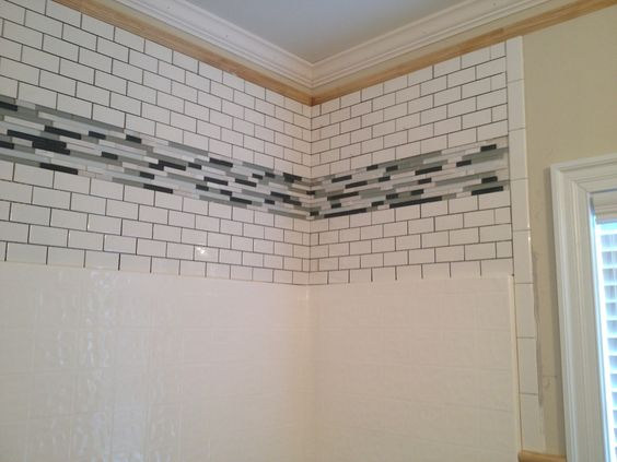 Dress Up The Area Above Your Fiberglass Shower Insert