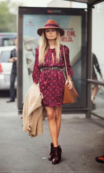 Look 70's : Vestido Estampado: