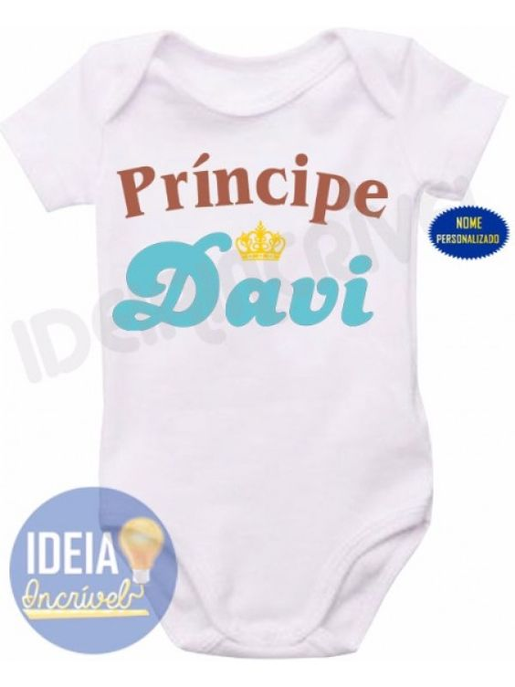 Body Infantil - Príncipe Davi