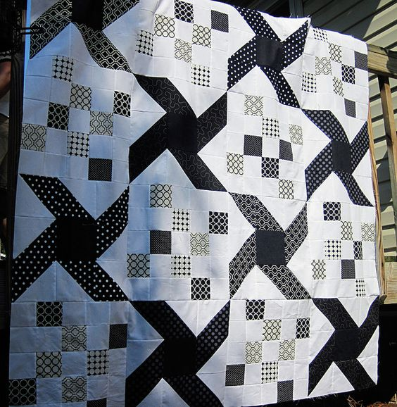 A project for all that black and white fabric!