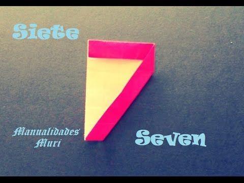 Origami - Papiroflexia. Número Siete / Number Seven