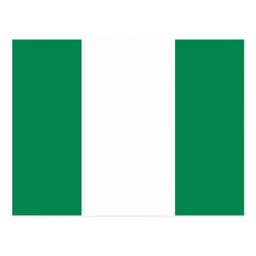 Nigeria Postcard Zazzle Com In 2020 Postcard Nigeria Nigerian Flag