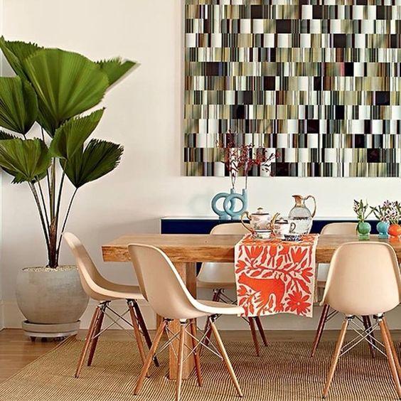 Palmeira leque 🙀😻 e sutileza na decoração! Ambiente perfeito para se inspirar...
