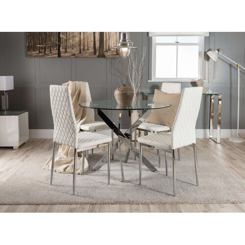 Zipcode Design Essgruppe Rylan Mit 4 Stuhlen Dining Chairs Dining Chair Set Round Dining Table