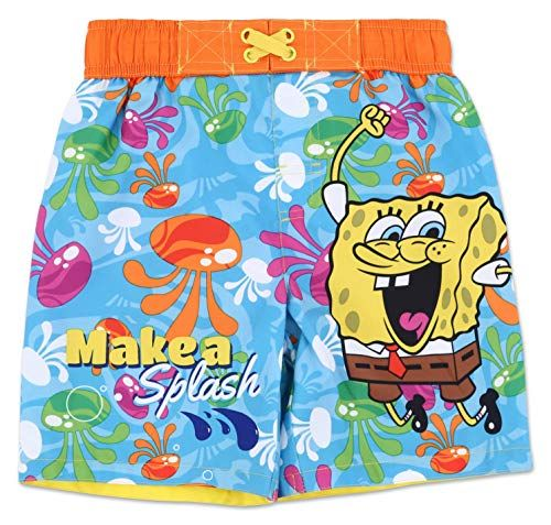 Spongebob Squarepants Little Boys Swim Trunks