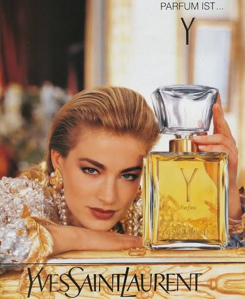 Ysl Y Advertisment Elaine Irwin Perfume Photo