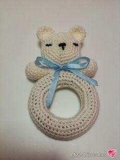 bebes juguetes de bebes amingurumi peluches patron sonajero gabchillo bebe sonajero amigurumis amigurimis adoro tejidos crochete osito amigurumi