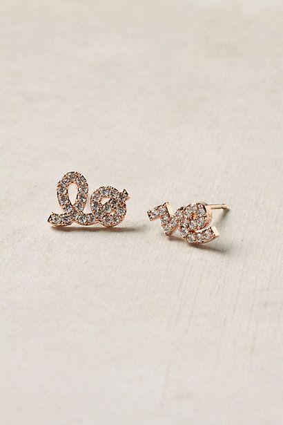 love earrings: