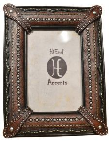 HiEnd Accents Leather Look Photo Frame - 4