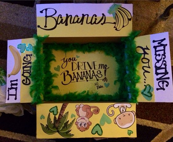 "My Second Care Package for my Marine, ""I'm going Bananas missing you!"""