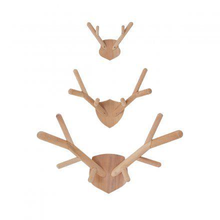 Wandhaken Deer Antler natur
