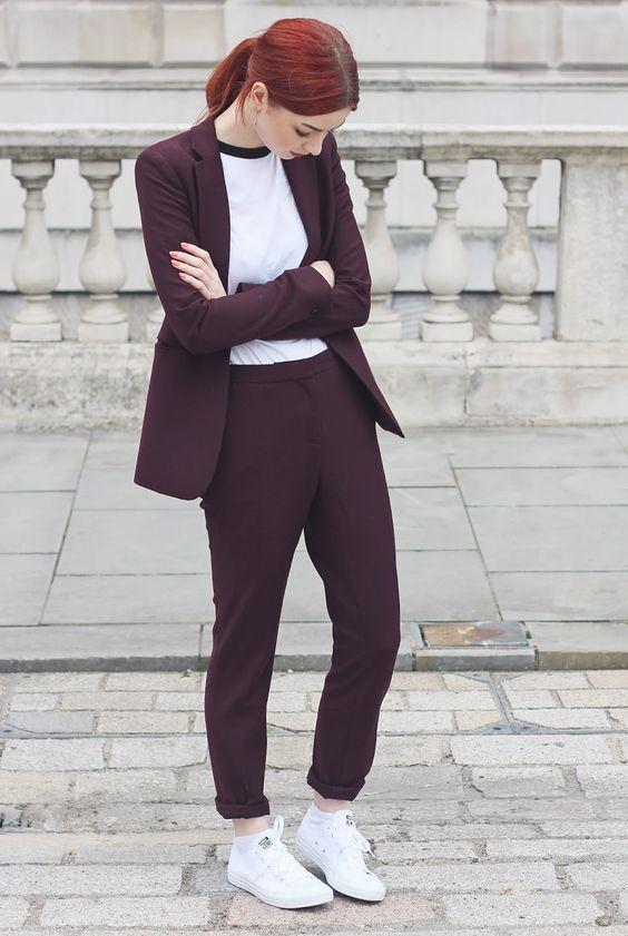 burgundy berry suit