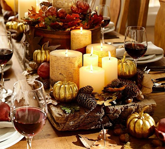 Tablescapes Thanksgiving And Fall Dinner On Pinterest