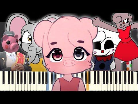 Piggy Memes On Piano Part 2 Youtube Piggy Piano Parts Memes
