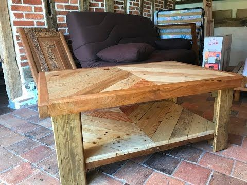 Table Basse En Bois De Palette Et De Recuperation Youtube Table Basse Bois Table Basse En Bois De Palette Palette Bois