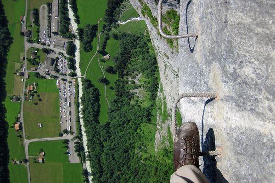 Klettersteig zwischen Mürren und Gimmelwald